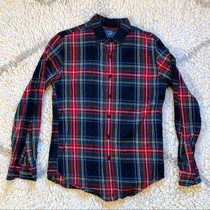 🎄J Crew Christmas Plaid Flannel Shirt New
